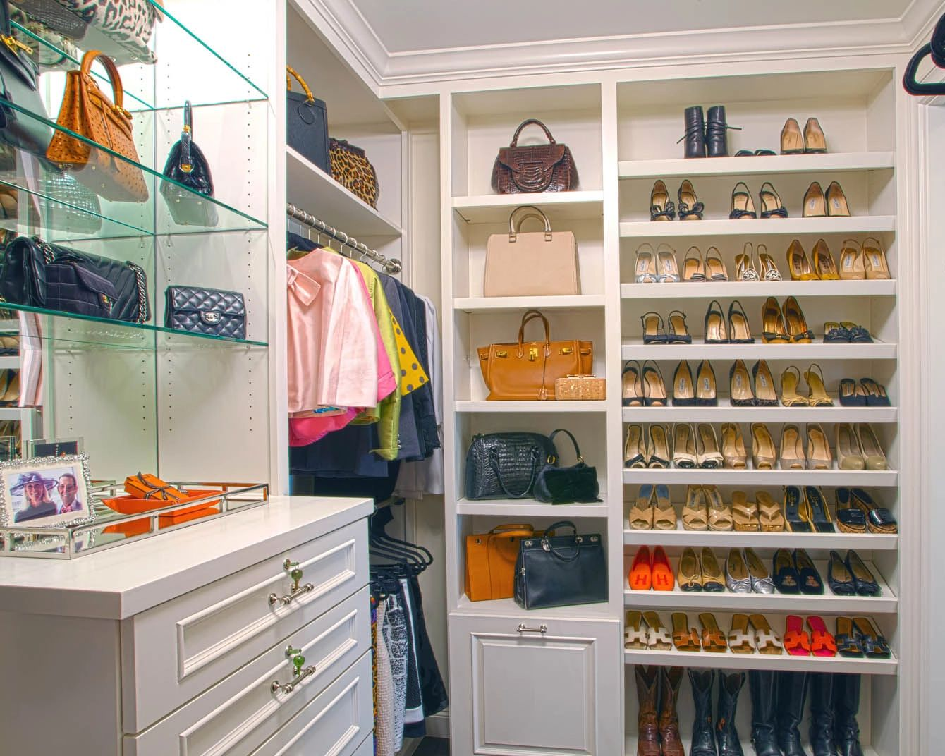 Professionally designed closet in Dallas by Kathleen Jacobson