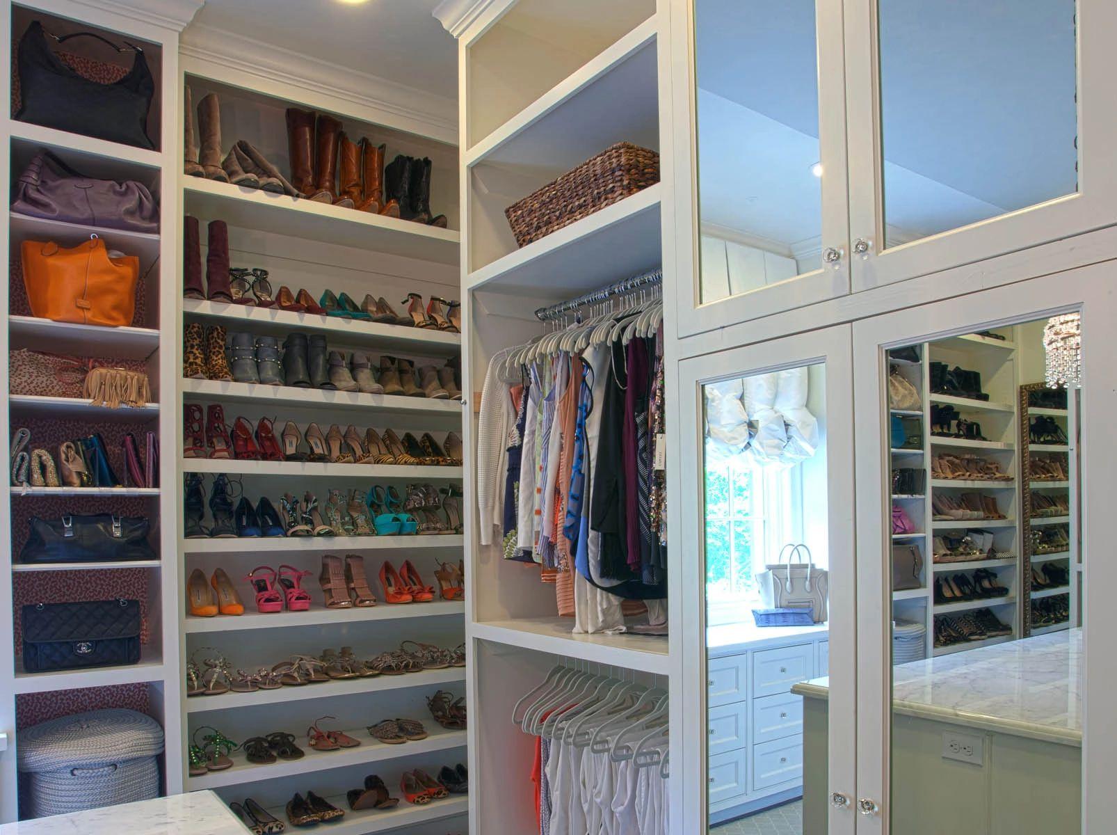 Luxury walk-in closet in Dallas