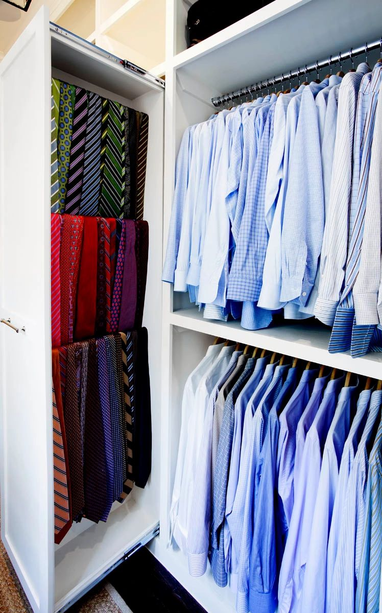 Men's closet design in Dallas