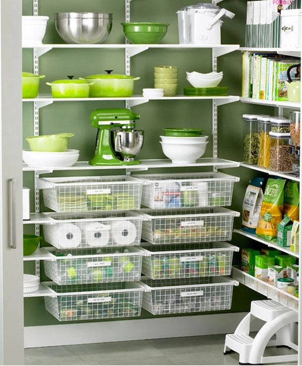 Elfa shelving system for kitchens and pantries