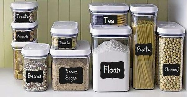 Chalkboard labels for food canisters
